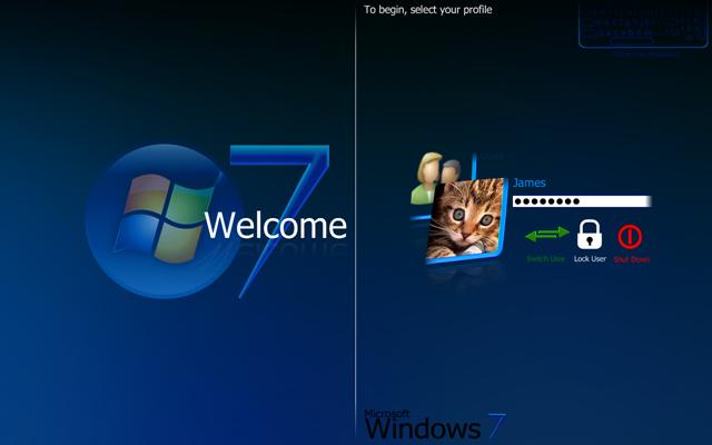 Change background image lock screen windows 7