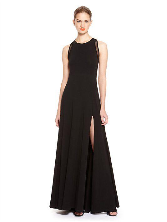 Maxi Dress With Front Slit - DKNY   Style   Pinterest   Maxi dresses ...