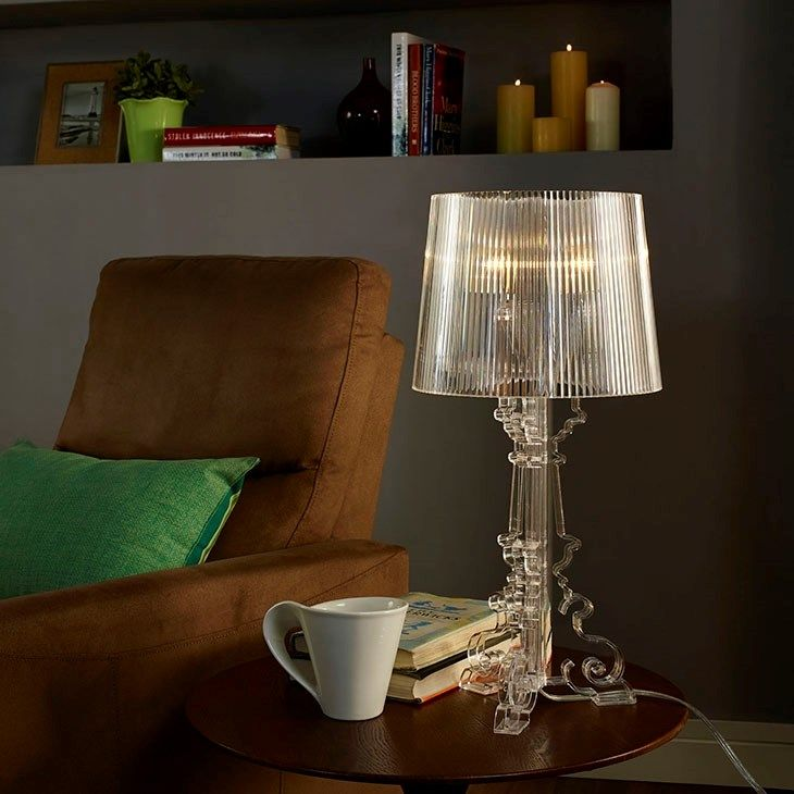 Lexmod french petit table lamp in clear