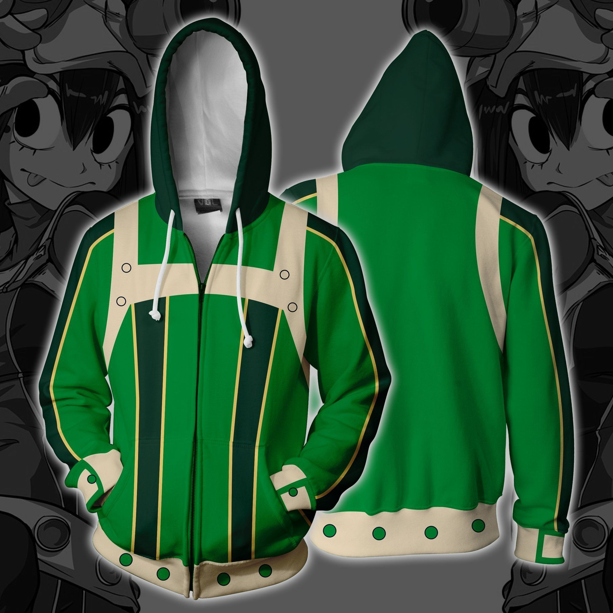 ebdae02d54 Tsuyo Asui Boku No Hero Hoodie | Gift Ideas | Hoodies, Anime cosplay ...
