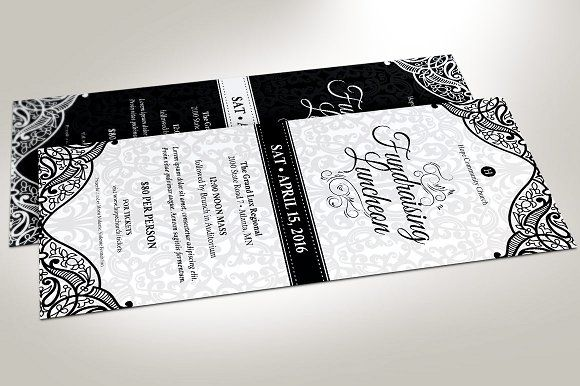 Black White Luncheon Flyer Template Flyer template, Template and