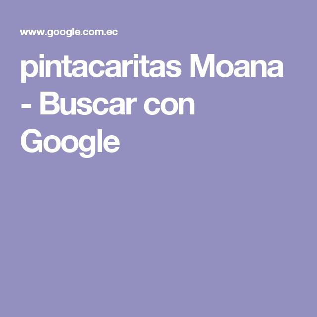 pintacaritas Moana - Buscar con Google