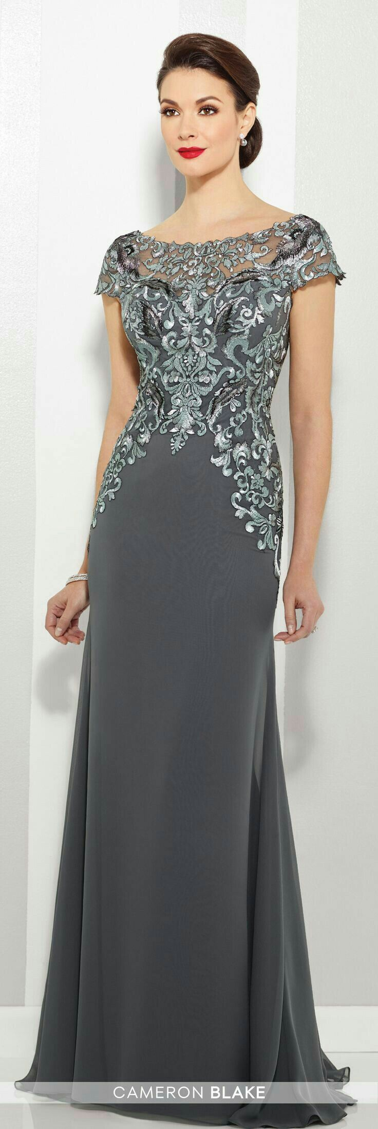 Formal dresses to wear to a wedding  This is a lovely mother of the bride or groom dress  Wedding Style