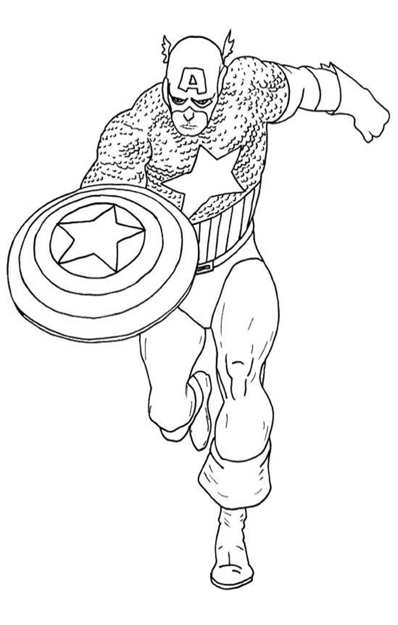 Printable Captain America Coloring Pages (14 Sheets