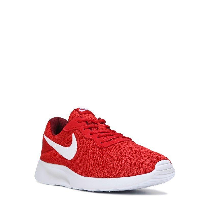 Nike Men's Tanjun Sneakers (Red/White)