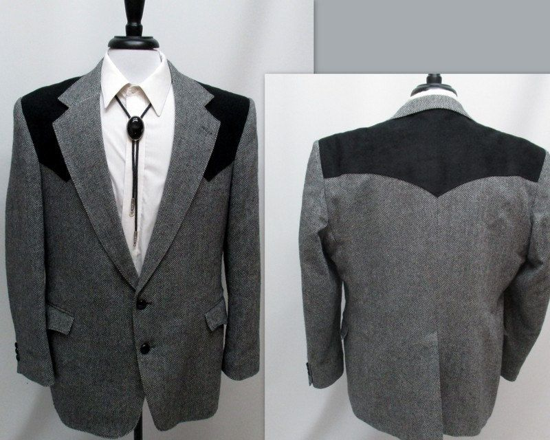 f5c7085c3c33 Vintage 80s Western Sport Coat, Country Western Sports Coat, Wool Sports  Coat by RosasVintageFinds on Etsy