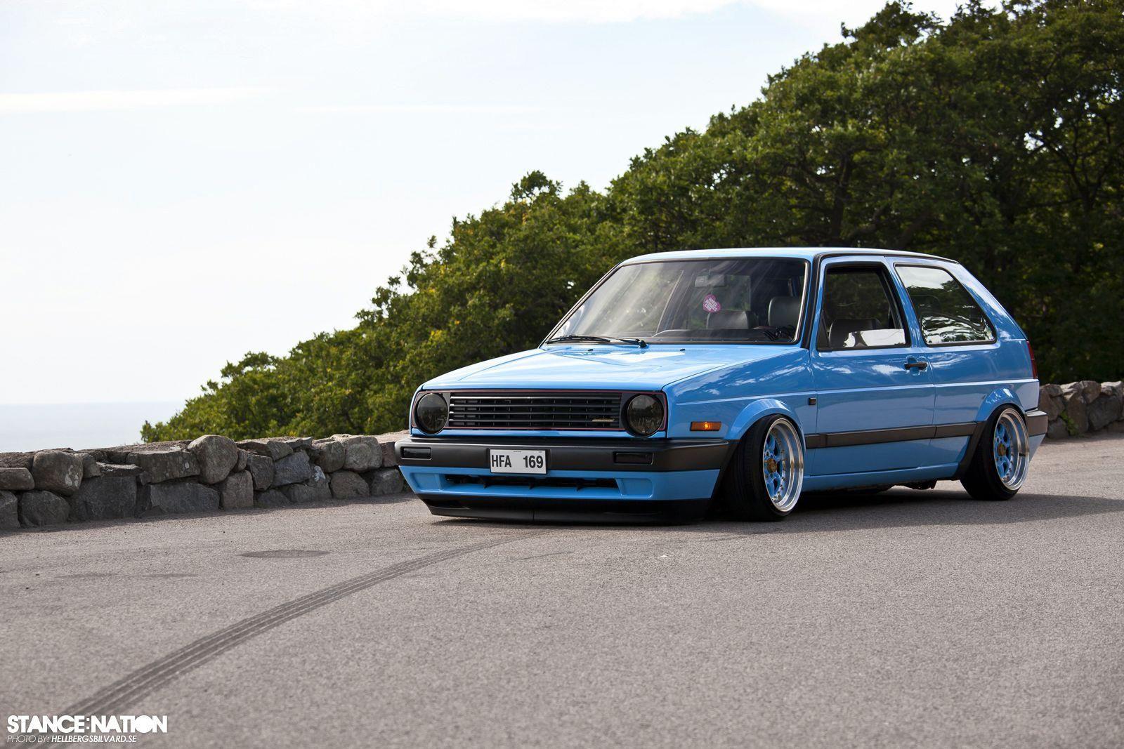 Vw Golf Mk2 Mid Blue Volkswagen Golf Mk2 Volkswagen Golf Mk1