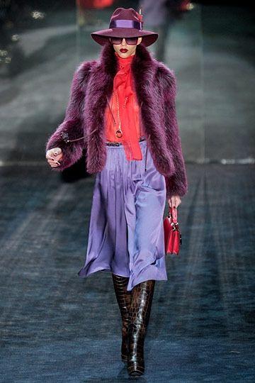 Gucci F11 runway - gray, vino, coral, violet