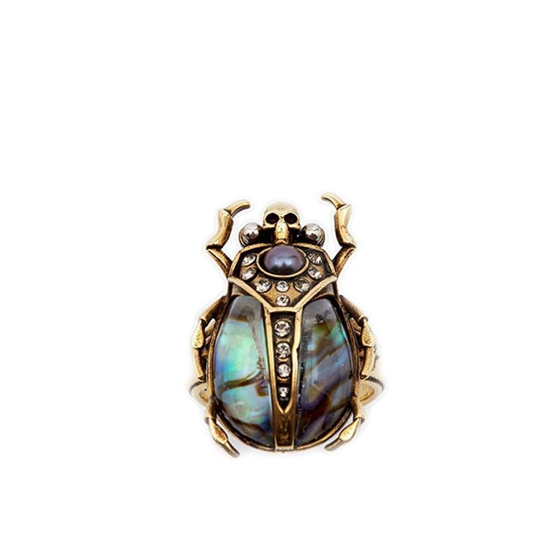 3487e7d20 Beetle Ring With Rhinestones | Products | Jewelry, Rings, Earrings