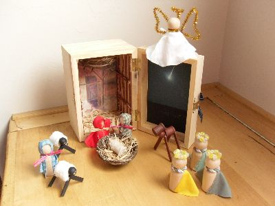 Nativity for Kids in a wooden gift box