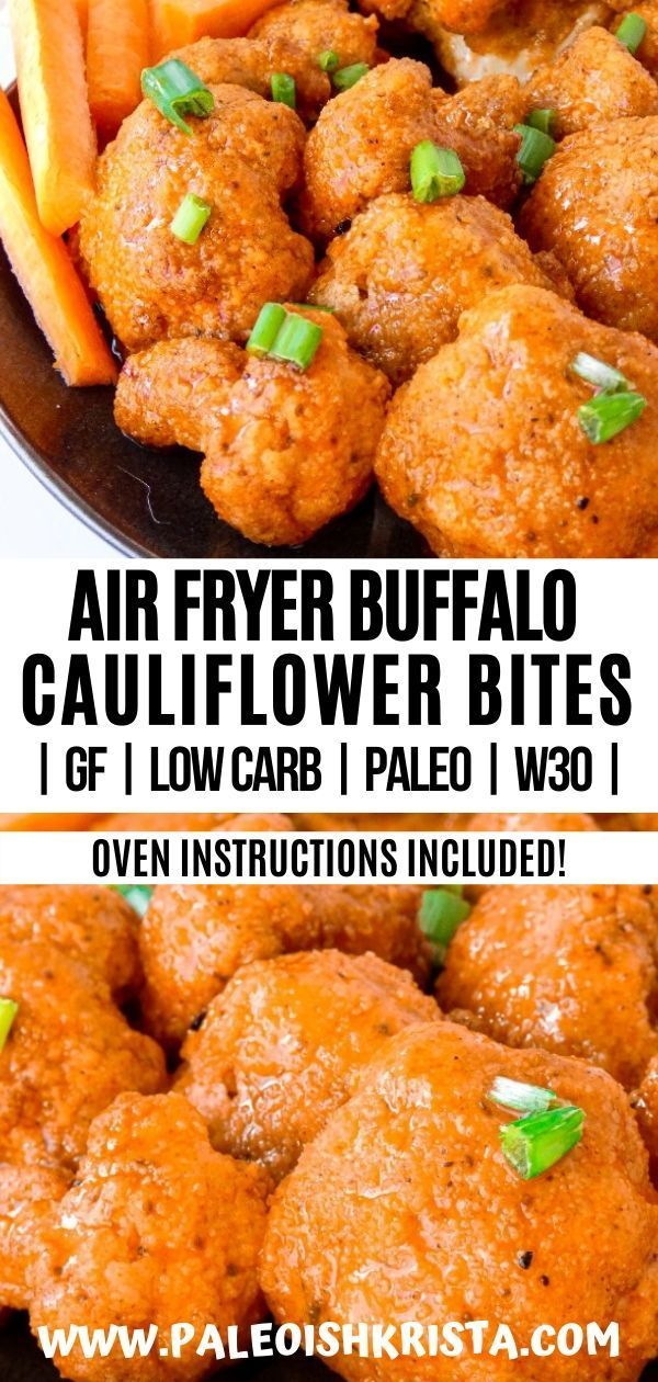 Air Fryer Buffalo Cauliflower Bites Recipe Appetizer