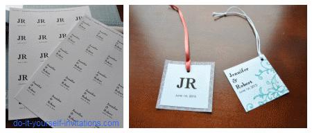 Diy wedding favor tags template – Wedding celebration blog