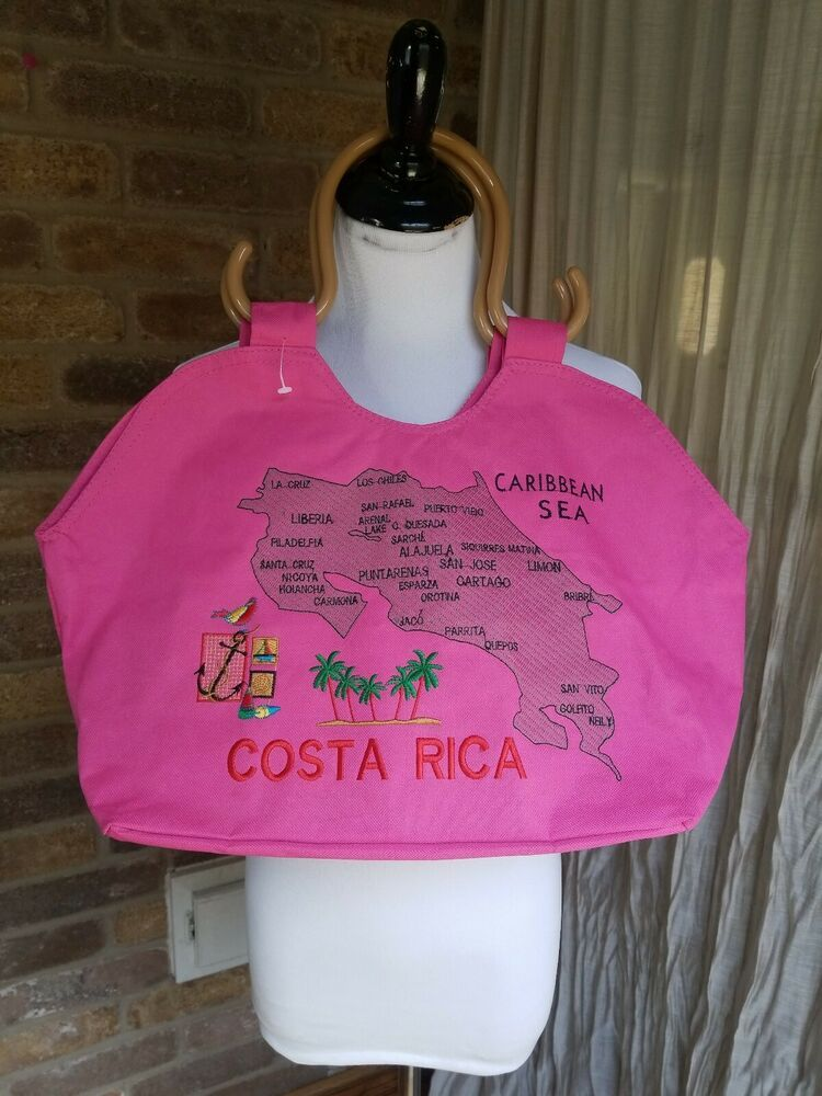 81eea32df Costa Rica Country Map Color Canvas Tote Bag / Sport Bag NWOT W ...