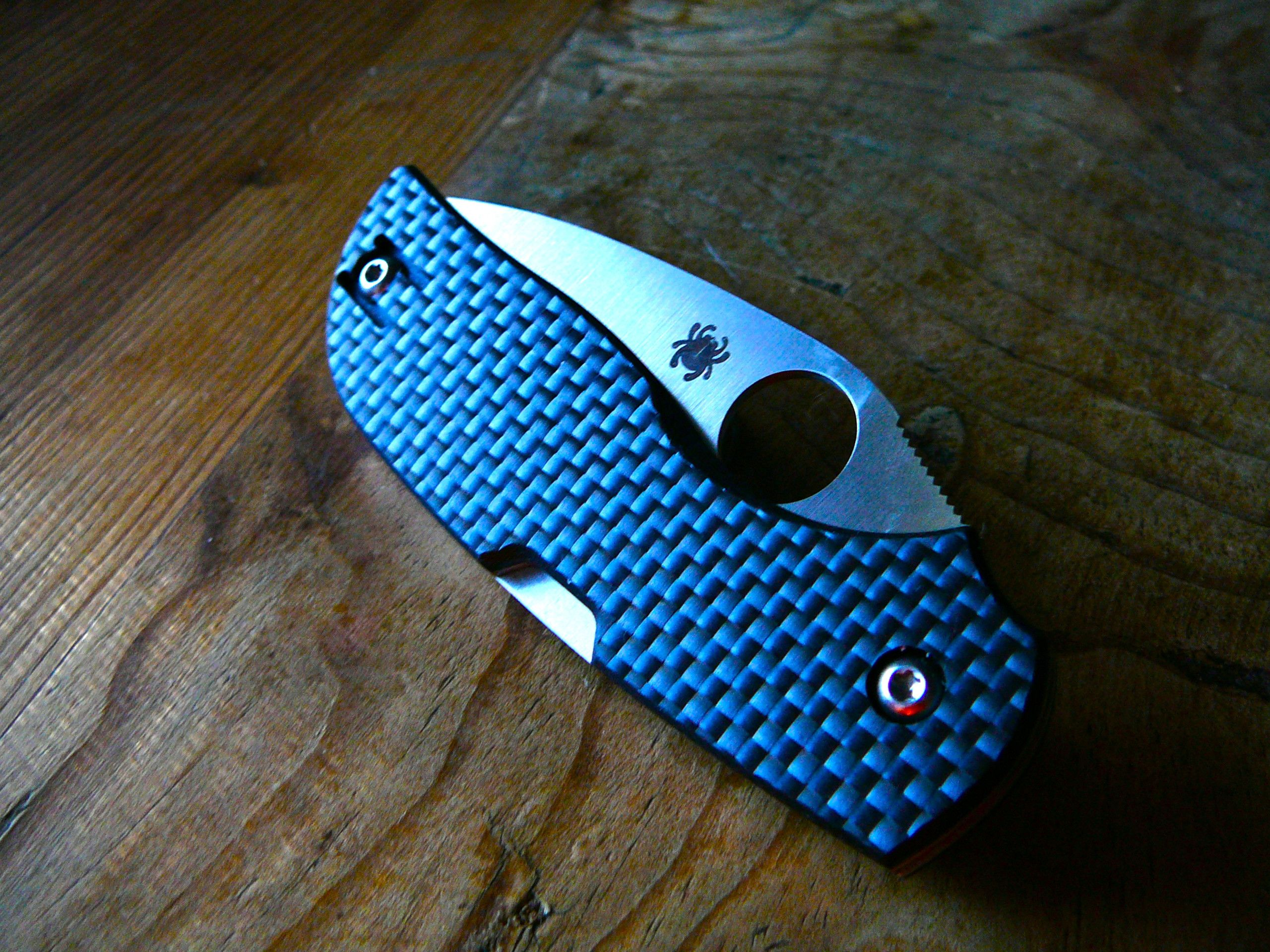 Spyderco Chaparral--Carbon Fiber scales and CTS-XHP super
