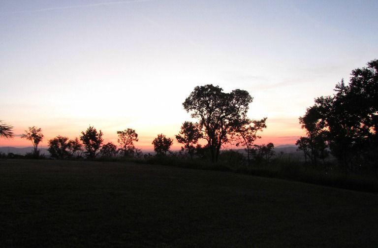 pink sunset in Furnas