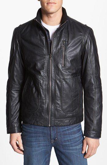 4ab8266da BOSS HUGO BOSS 'Aicon 1' Leather Jacket | Nordstrom | Christmas ...