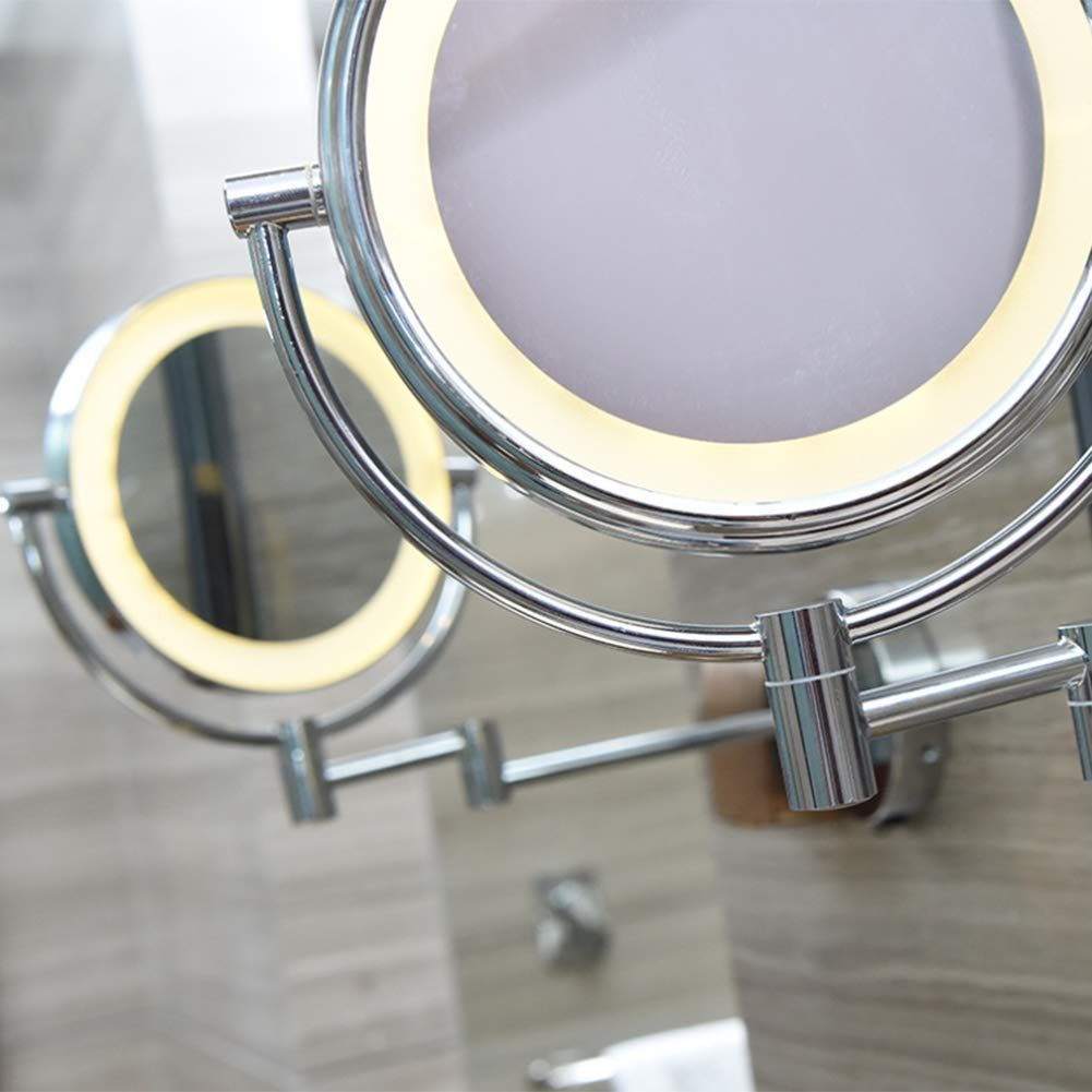 Mirror Led Light Wall Mounted Bathroom 8inch Extending Double Side Shaving Touch Switch Bathspa Hotel Hmyh You Can Find Out Mirror Modern Tub Modern Sconces