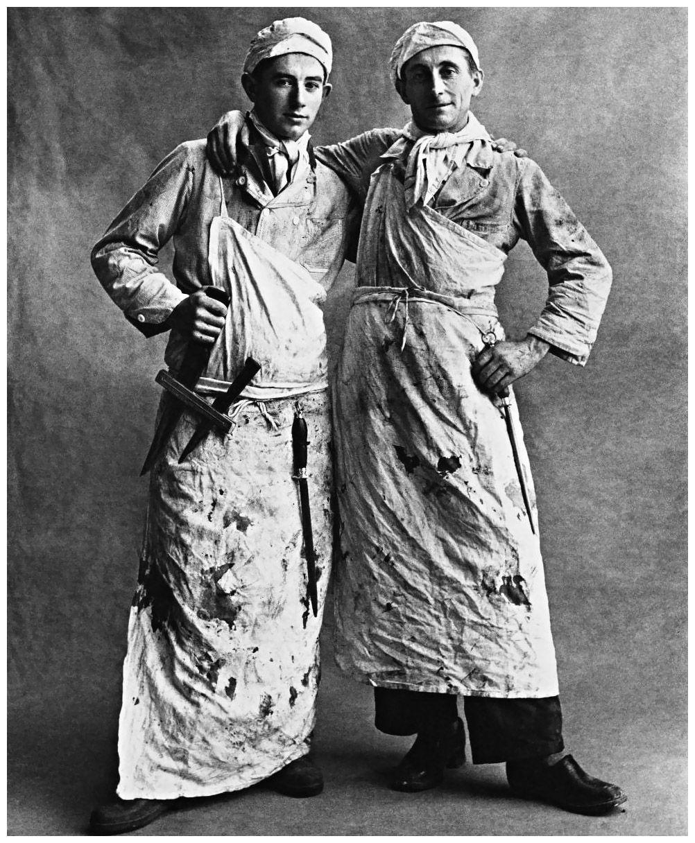 White apron penn quarter - Irving Penn