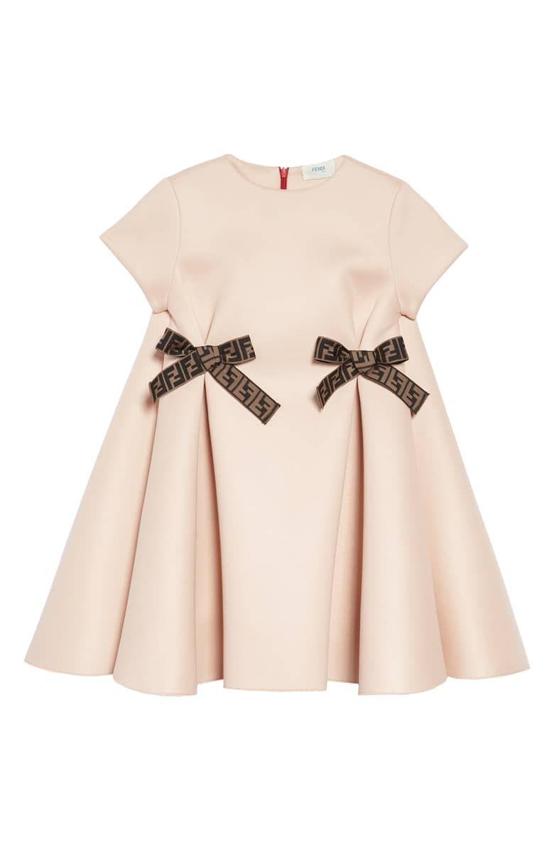 29c9e5764f6 Fendi Bow Detail Dress (Toddler Girls