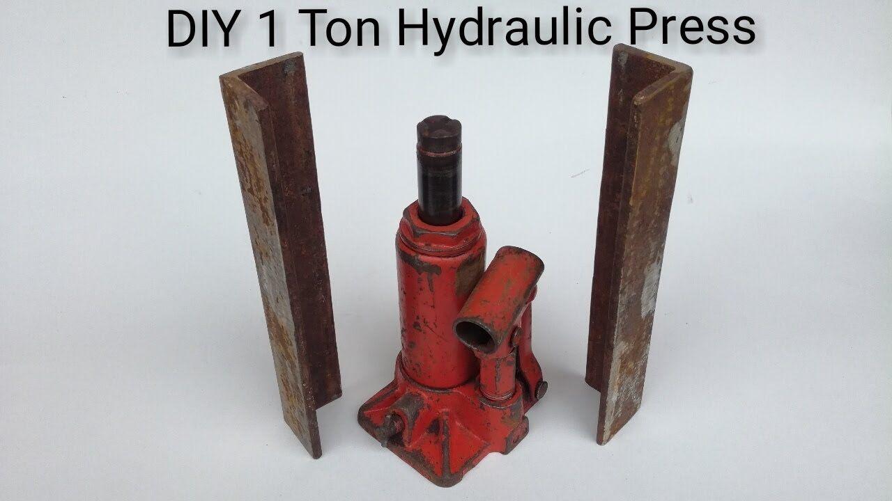 Diy 1 Ton Hydraulic Press Youtube Diy Bottle Opener Wall Hydraulic