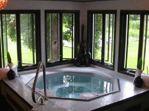 How To Create A Relaxing Spa Like Bathroom Hot Tub Room Indoor Pool Design Indoor Hot Tub