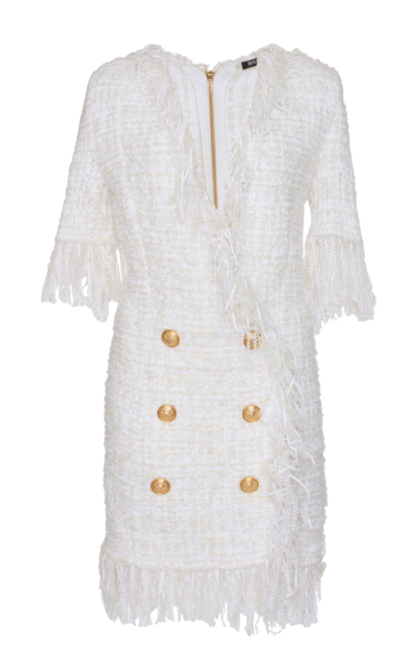 3660ff60 Fringed Tweed Dress by BALMAIN for Preorder on Moda Operandi