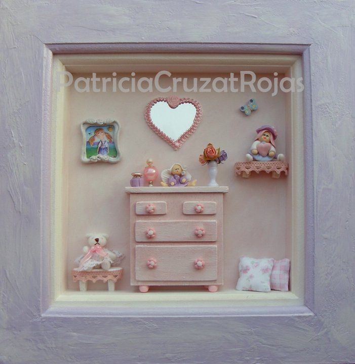 espacio ni a con miniaturas miniature rooms displays pinterest vitrine miniature cadre. Black Bedroom Furniture Sets. Home Design Ideas