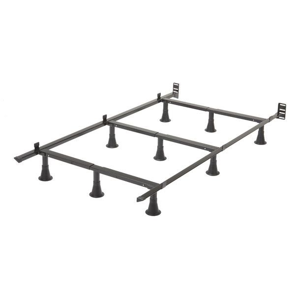 Twin Size 9 Leg Metal Bed Frame With Headboard Brackets Quality