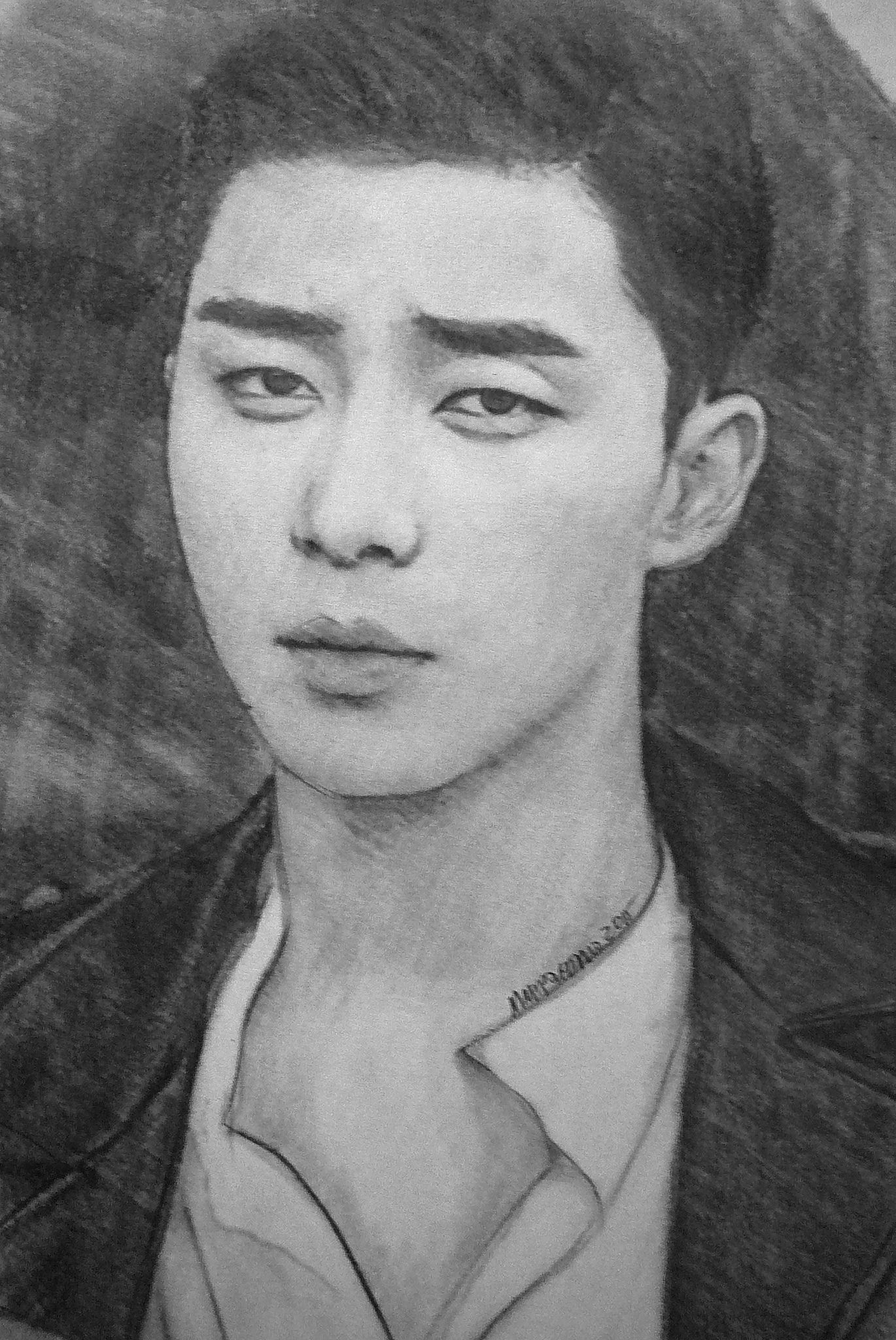 Park Seo Joon Girl Face Drawing Korean Artist Pictures To Draw