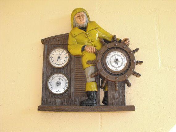 Vintage 1973 Burwood Nautical / Captain Ships Wheel Wall Decor ...