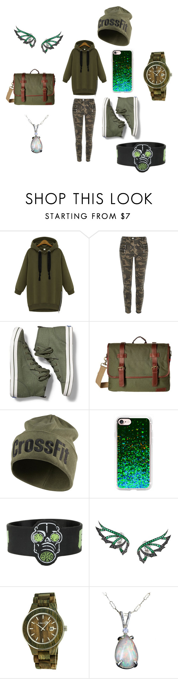 """T0X1C"" by annara-101 on Polyvore featuring Keds, Tommy Hilfiger, Reebok, Casetify, Stephen Webster and Earth"