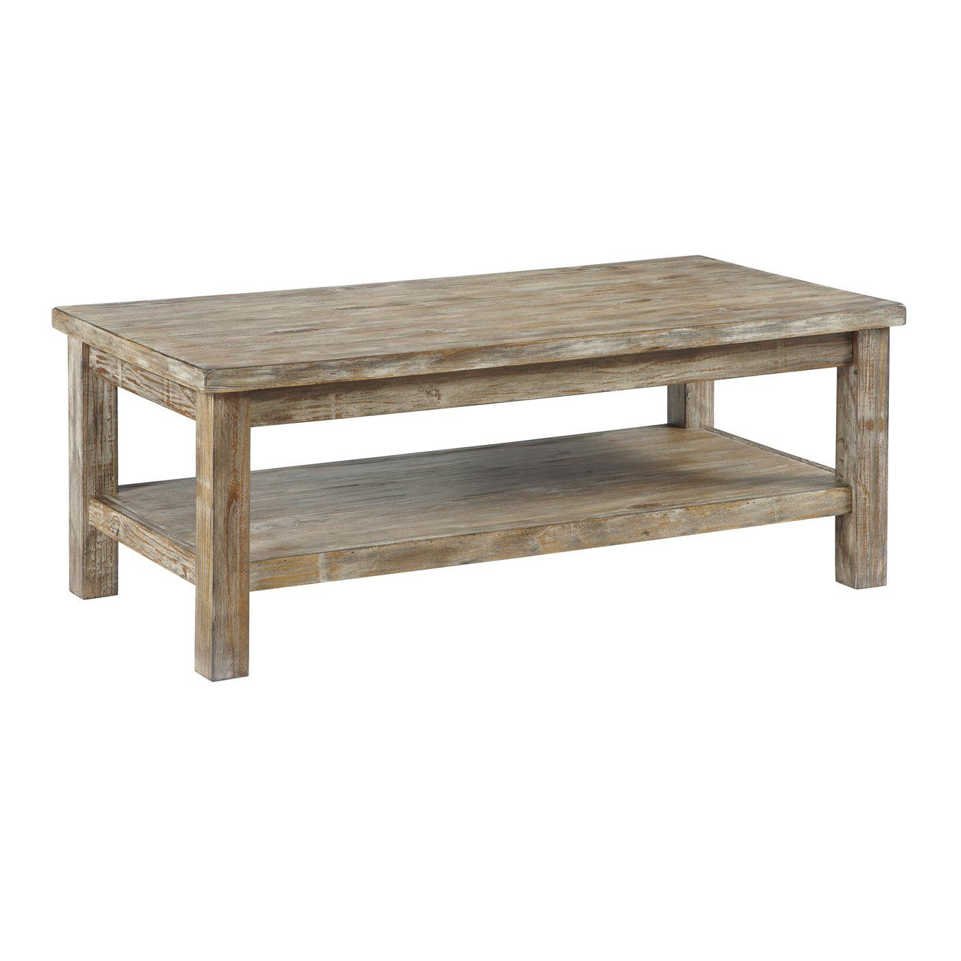 Distressed Wood Coffee Table Modern Living Room Furniture Sets