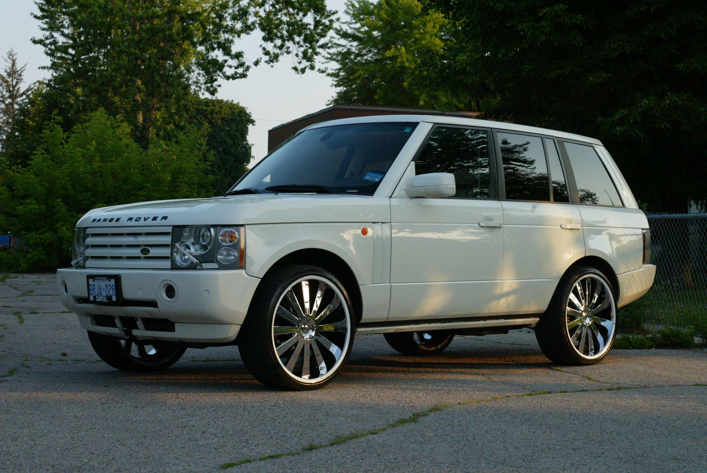 My 2005 Land Rover L322 Range Rover 44L White w 24 Gianelle
