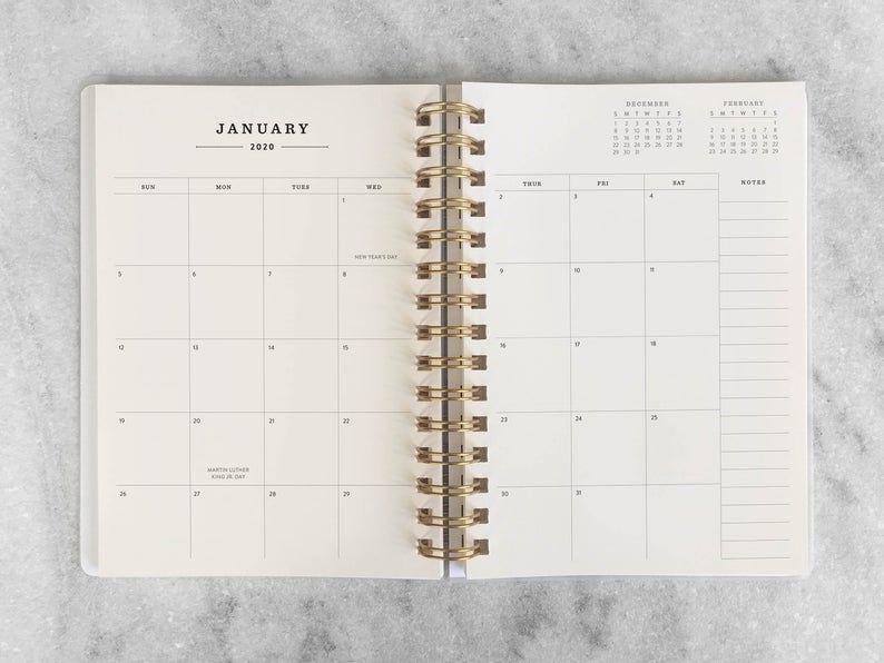 2020 2021 Student Weekly Planner Notebook Agenda School Year Plastic Cover