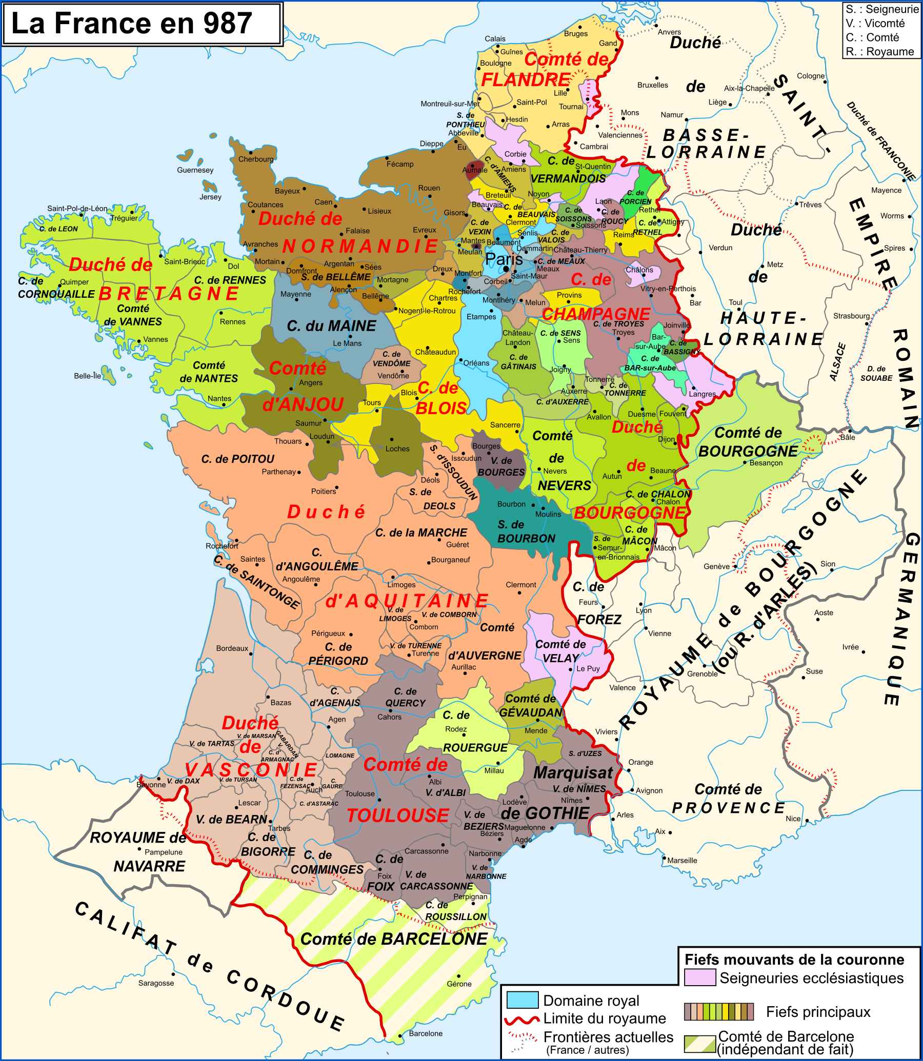 Map France 987.Map Of France In Year 987 Worldhistory France Map Map