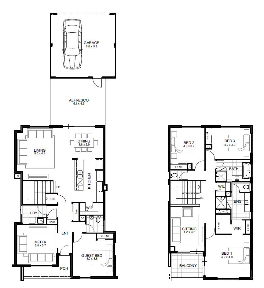 Narrow Lot Double Storey House Designs Perth | APG Homes | house ...