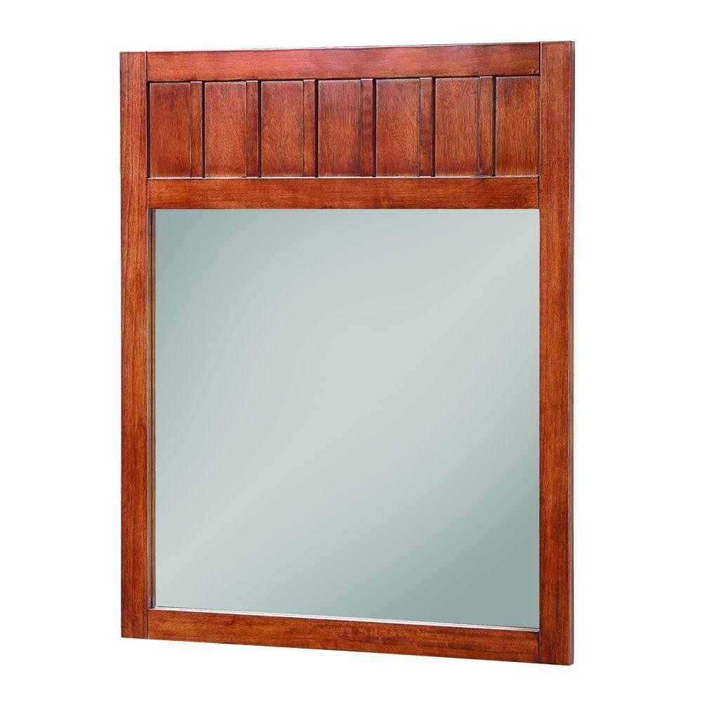 Foremost KNCM2834 Knoxville Poplar Framed Vanity Mirror, Nutmeg ...