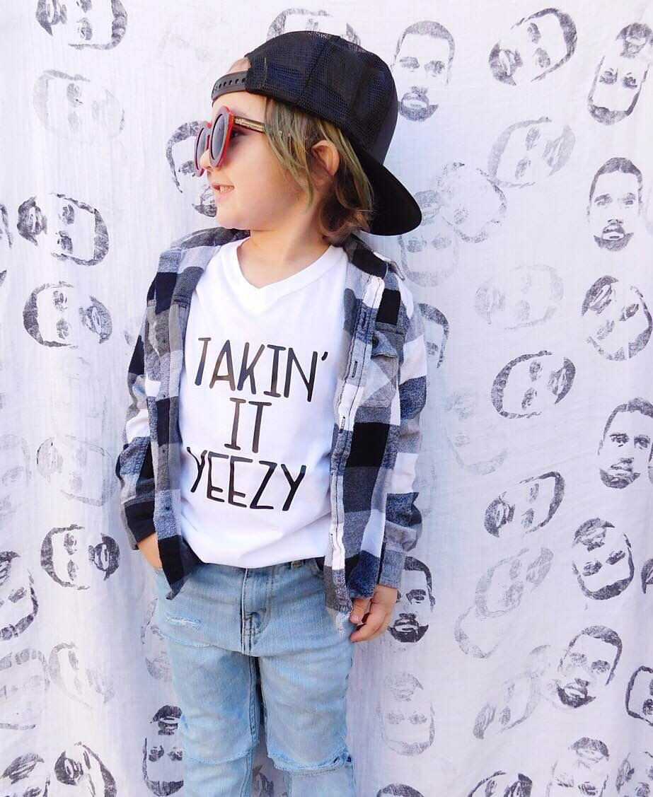 Takin It Yeezy shirt, hipster kids clothes, graphic tee, trendy ...