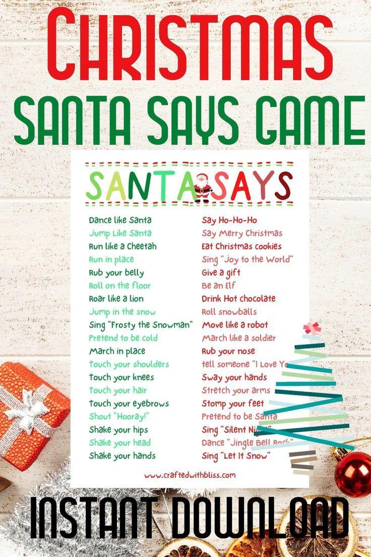 Christmas printables kids, Christmas Party Games,