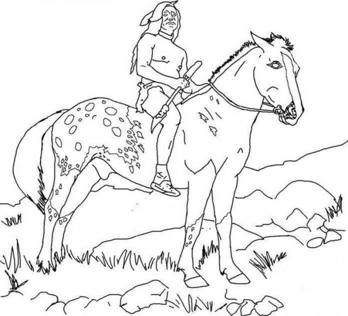 Native America Indian Horse Coloring Page Coloring Page Horse Coloring Pages Horse Coloring Books Horse Coloring