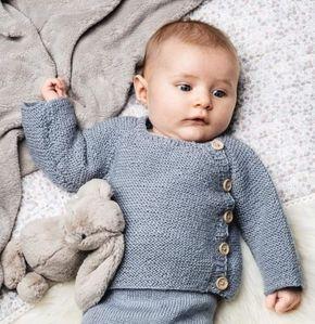 Gratis mönster stickad babykofta