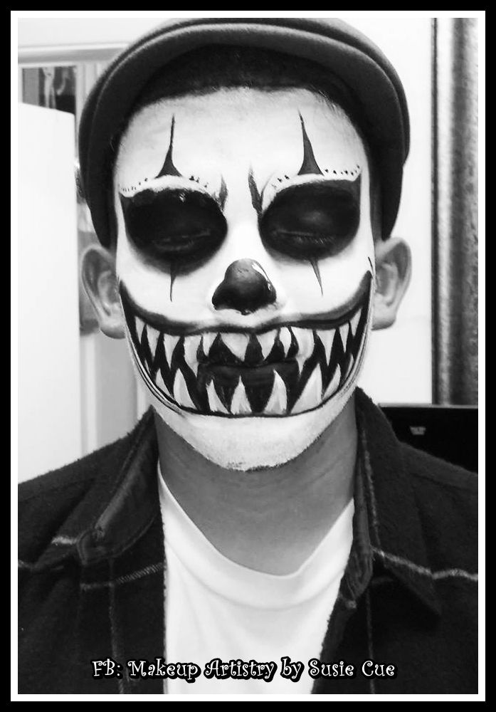 ,Halloween makeup, Scary Clown, clown , makeup