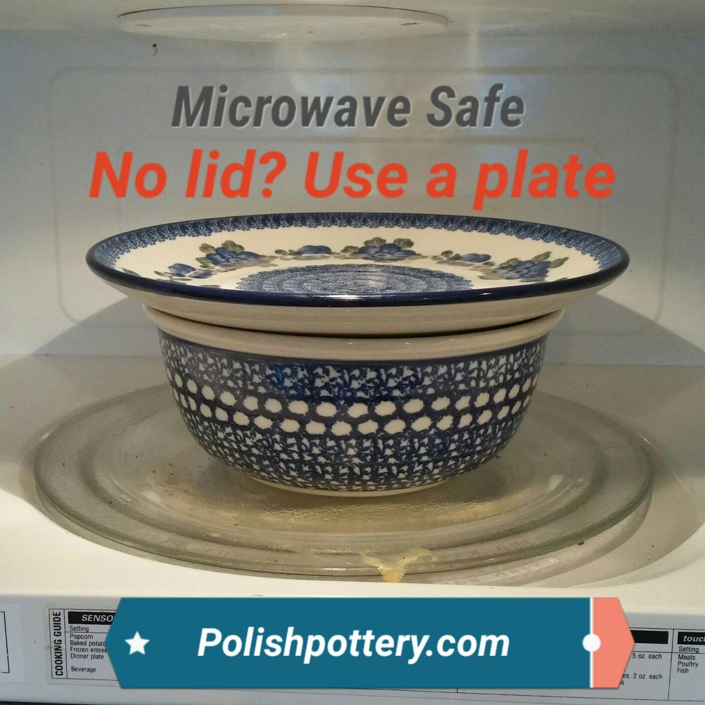 microwave safe polish pottery no lid