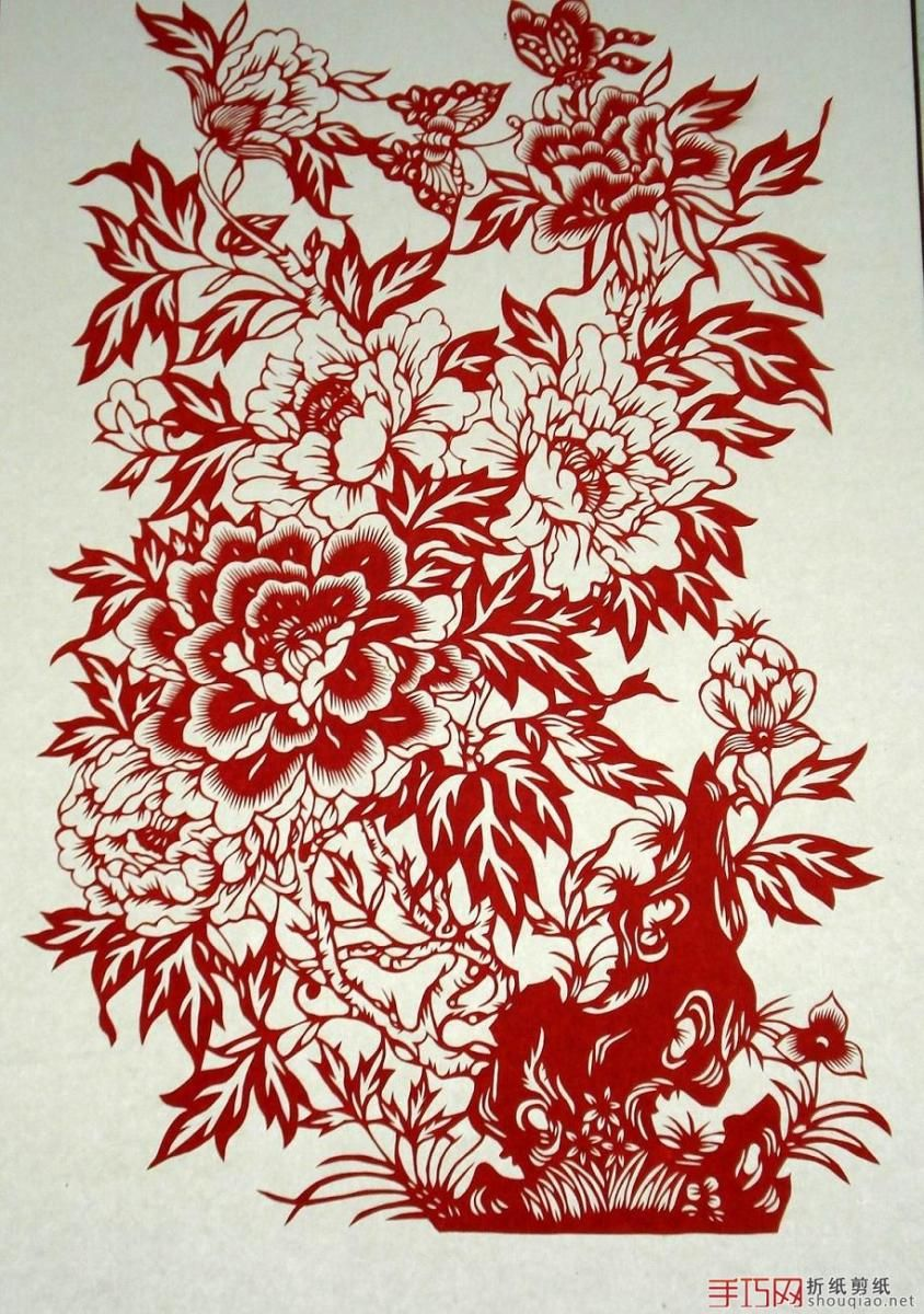 Floral Paper Cut Design Flowerpeople Think It Is A Symbol Of