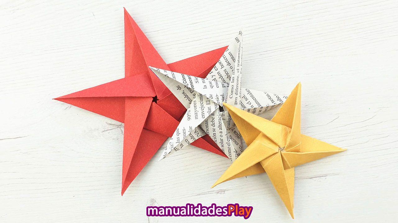 Estrella De Papel Paso A Paso Origami Facil De Navidad Estrellas De Origami Estrellas De Papel Manualidades