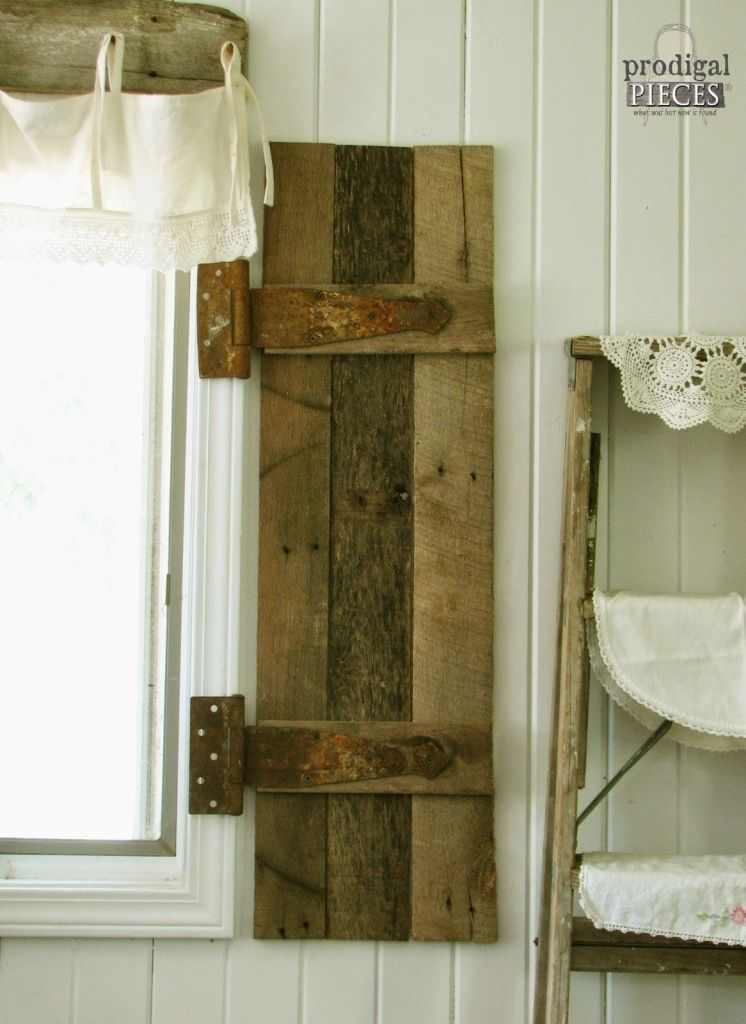 Decorative Shutters Made From Pallet Wood Barn Wood Decor Barn Wood Wood Shutters