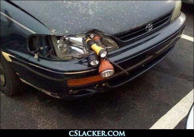 redneck fix-it headlights