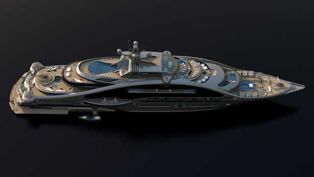Superyachten concept  Laraki Yacht Design pens modular 163m superyacht concept Prelude ...