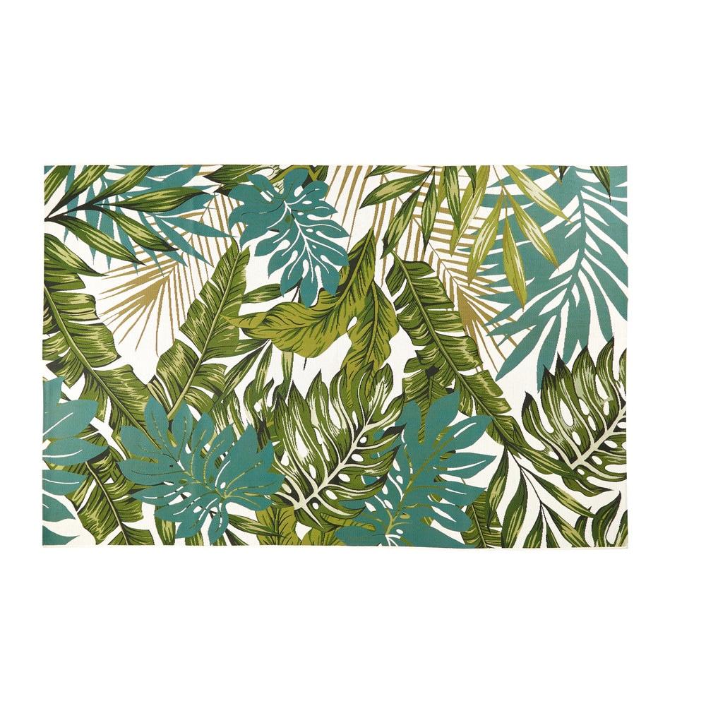 Tapis D Exterieur Imprime Tropical 160x230 Terrasse Tappeti Da