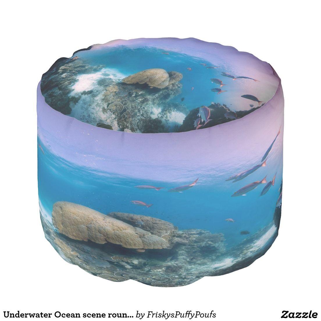 underwater ocean scene round pouf underwater ocean scenes and scene